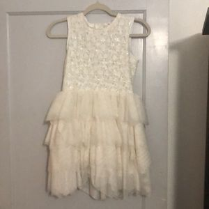 NWOT Girl's Sz 11-12 ivory sequin dress
